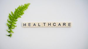 healthcare in scrabble letters